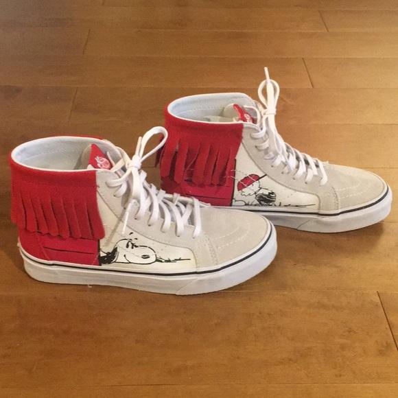 8380c605e0c747 VANS x PEANUTS Dog House Sk8-Hi Moc Womens Shoes. M 59b6f0e08f0fc461cc09fb52