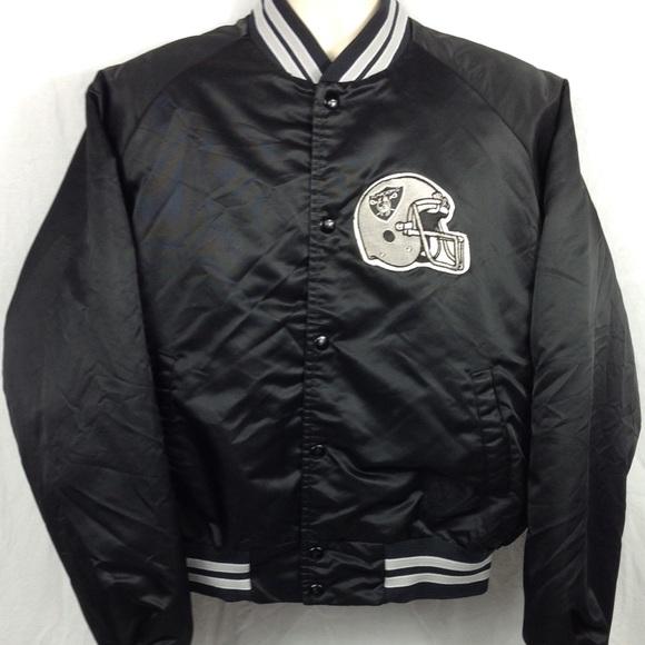 9219d8eacd2 chalk line Jackets & Coats   Vintage Raiders Satin Jacket Size Xl ...