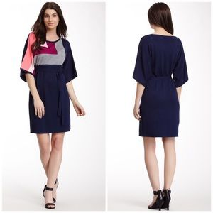 Trina Turk Tie Waist Sweater Dress