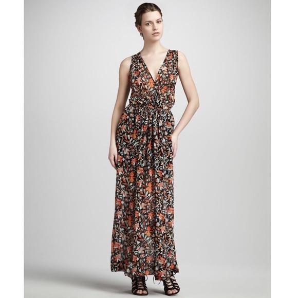 c3e1134002b Joie Dresses   Skirts - Joie Silk Sheer Floral Maxi Dress