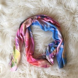 Colorful Abstract Thin Scarf