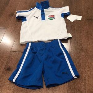 Puma shirt and short set for 12 months