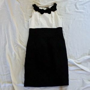Taylor (Nordstrom) Black and White Dress