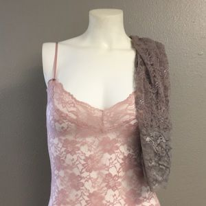 Set of two lace chemises