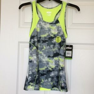 NWT Prince Neon Yellow Workout Racerback Top