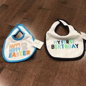 2 bibs - Easter and 1st birthday