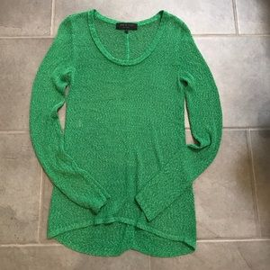 Rag & Bone green mesh sweater size Small