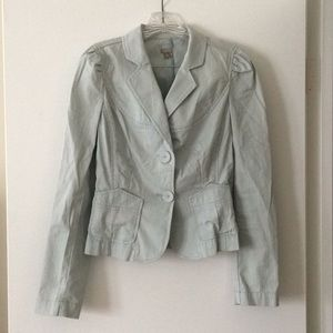 Pastel Halogen two-button sea foam blazer, size S