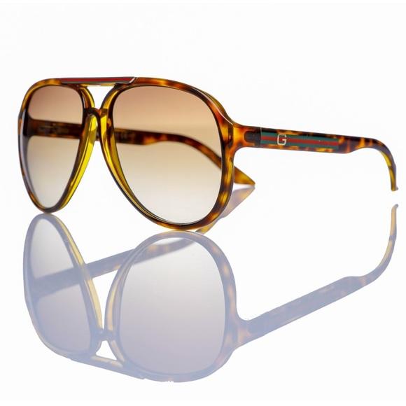 5877b09c855 Gucci Havana Aviator Sunglasses GG 1627 S 7911W