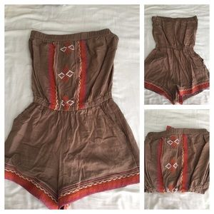 Other - 🍁Brown romper, Size Small🍂