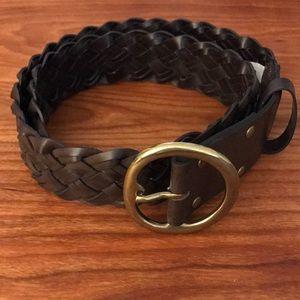 Gap Thick Braided Brown Belt - NWT