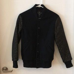 Aritzia Black Wool  Bomber Jacket