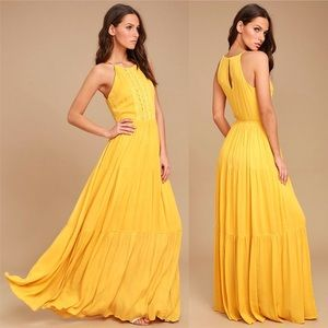 NWT Yellow/Gold Maxi Dress
