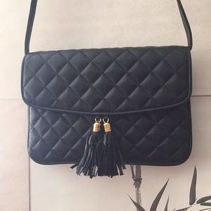 Handbags - Quilted Fashion Purse with Tassel