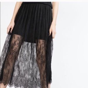 Zara Maxi Lace Skirt