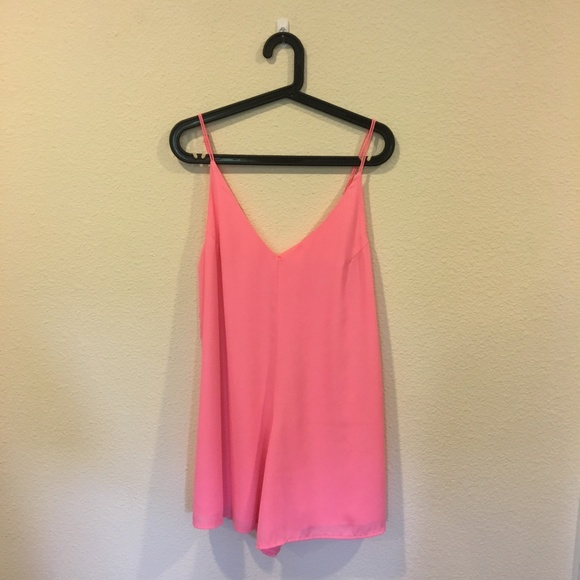 Let Her Be Pants - NWT Let Her Be pink romper