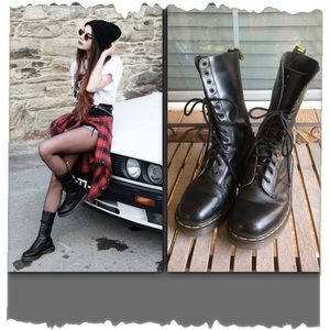 Original Dr Martens Black 1914 14 Eyelet Lace Boot