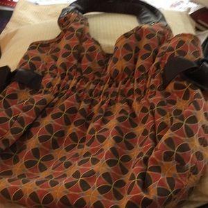 Handbags - Fall bag, fabric and leather