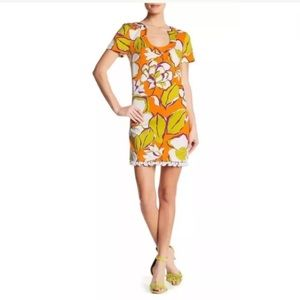 Trina Turk musita shift dress in kumquat size 2