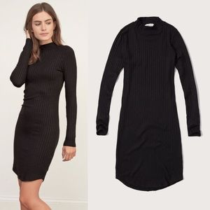 NWT mock neck black midi sweater dress