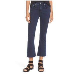 Rag & Bone Raw Hem Cropped Flare Jeans
