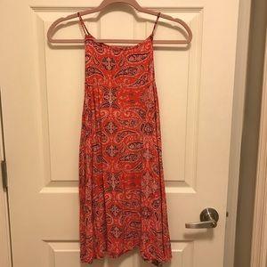 Paisley High-Neck Shift dress