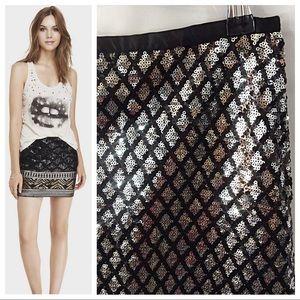 Diamond Sequin Skirt