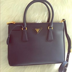 Brand New Prada Authentic Saffiano Lux Double Zip