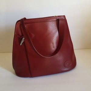 Longchamp • Crossbody Purse • Red • Burgundy