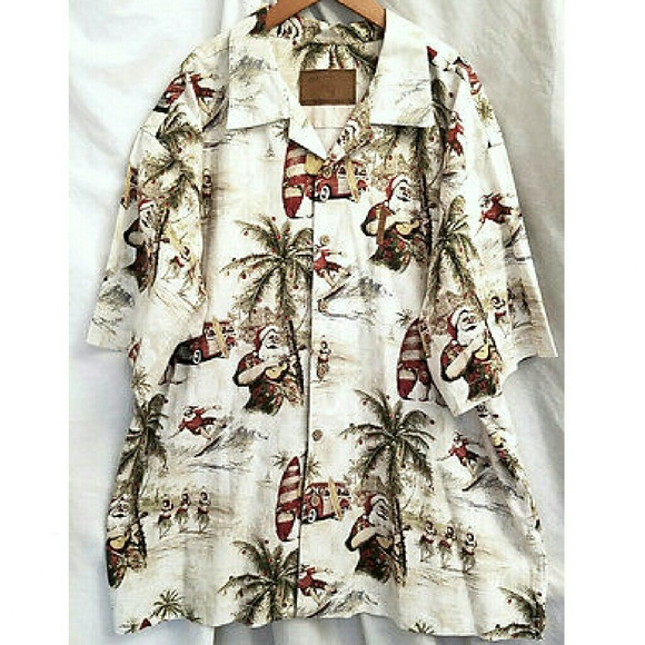 8d320738b Clearwater Outfitters Other - Clearwater Outfitters Surfing Santa Hawaiian  Shirt