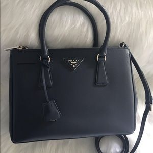Brand New Authentic Prada Saffiano Lux Silver HW