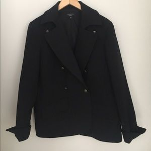 Talbots Black Pea Coat Size 16W