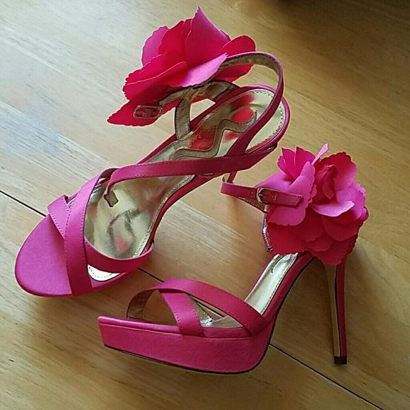 Nina shoes vday sale nwot hot pink flower heels poshmark m59b71562713fde8c610a958b mightylinksfo