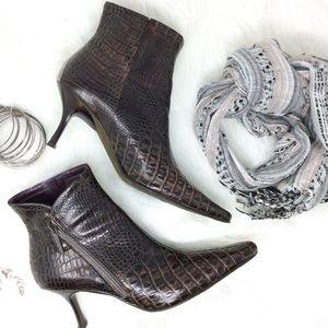 Donald J Pliner Sarra Embossed Leather Ankle Boot