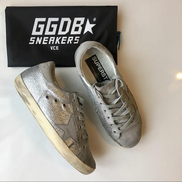 3a377cec5b1d Golden Goose Shoes - Golden Goose Glitter Superstar Sneakers