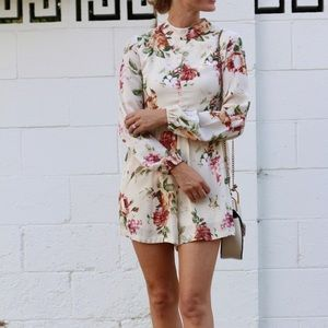 Pants - Nasty gal long sleeve floral romper