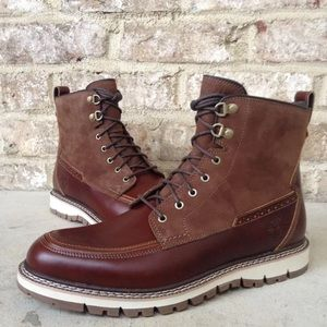 TIMBERLAND MEN'S BRITTON HILL MOC TOE BOOTS A1253
