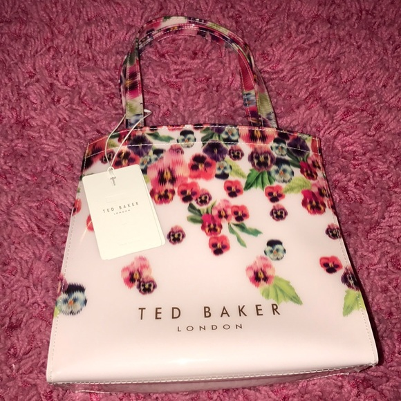 135fc30596 Ted Baker London Bags | Small Floral Icon Tote Bag | Poshmark