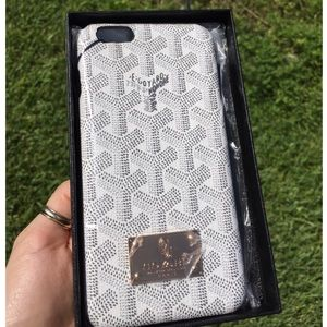 Goyard white iPhone 6-6s 6plus 6s plus case cover