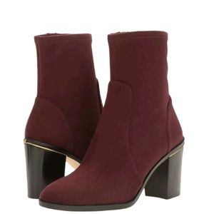 Michael Kors Chase Ankle Boot Color Plum Size 5
