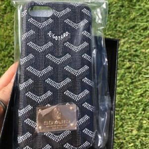 Goyard iPhone 7 Plus case cover (Black)