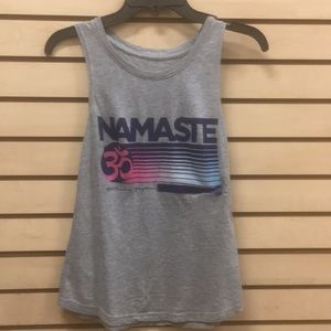 Spiritual gangster namaste gray new muscle tank