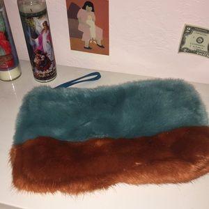 Faux Furry Zara Pouch