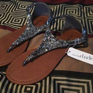 Gunmetal Sparkly Sandal