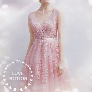 Dresses & Skirts - 🌸Plus/Regular🌸Pink Lace Prom/Wedding Gown, 2-16