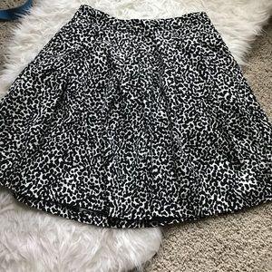 Banana Republic animal print skirt