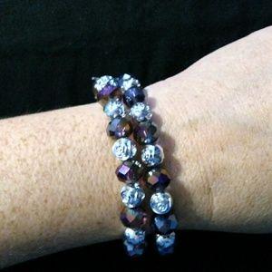 Iridescent purple beaded bracelets 6$ each