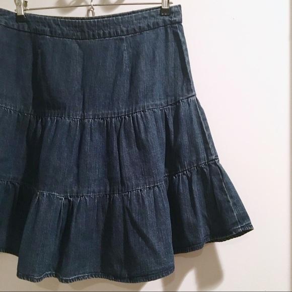 e05b61fbf GAP Dresses & Skirts - Vintage 90's Gap tiered denim skirt