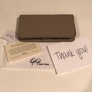 Gigi New York Stone Embossed Python iPhone Wallet