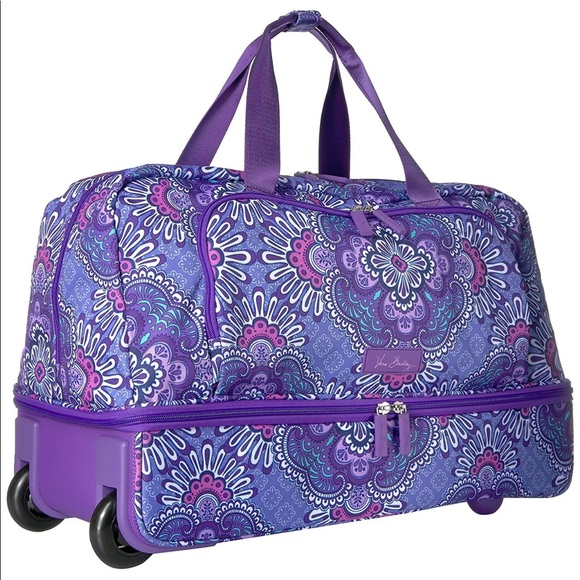 85f3ccf9d696 Vera Bradley Lilac Tapestry Wheeled Carry-On. M 59b72d525c12f84fa50aed03